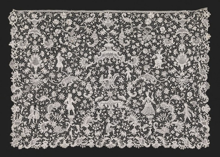 Lace cravat, 17th century