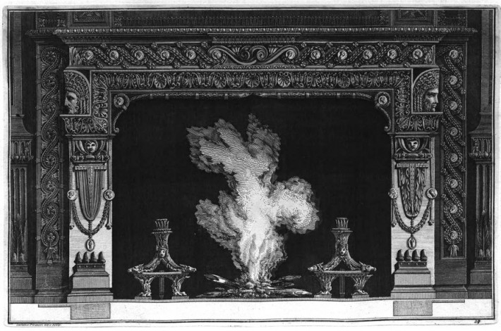 Piranesi fireplace, plate 27