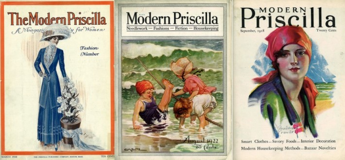 The Modern Priscilla magazine covers