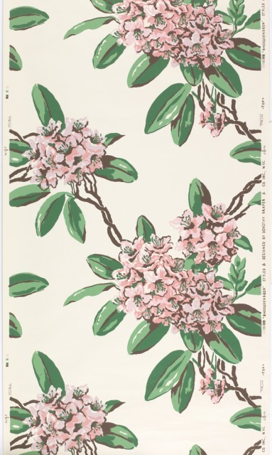 Rhododendron wallpaper by Dorothy Draper