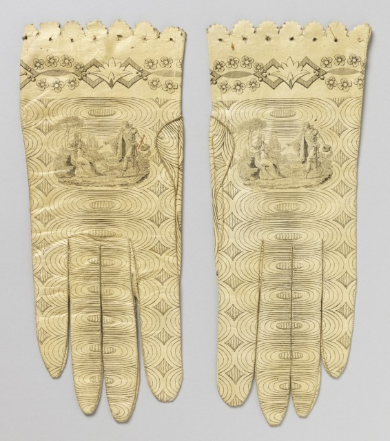 Women's gloves, 1800-1820