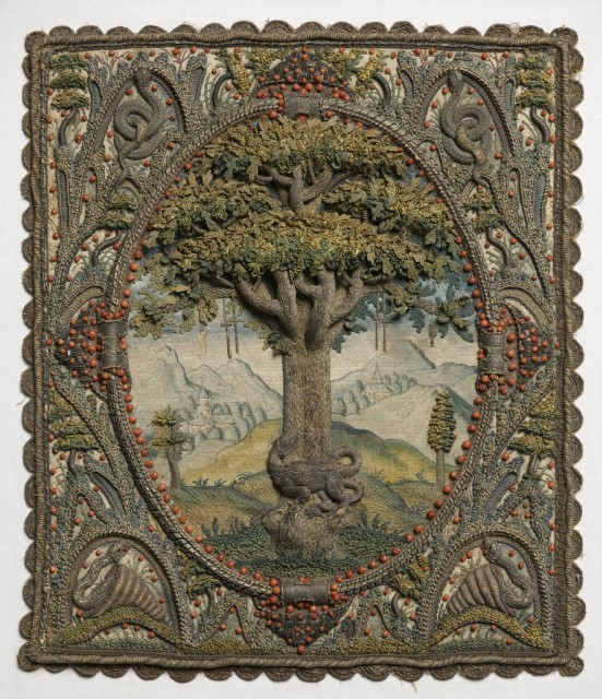 Embroidered panel, 17th c.