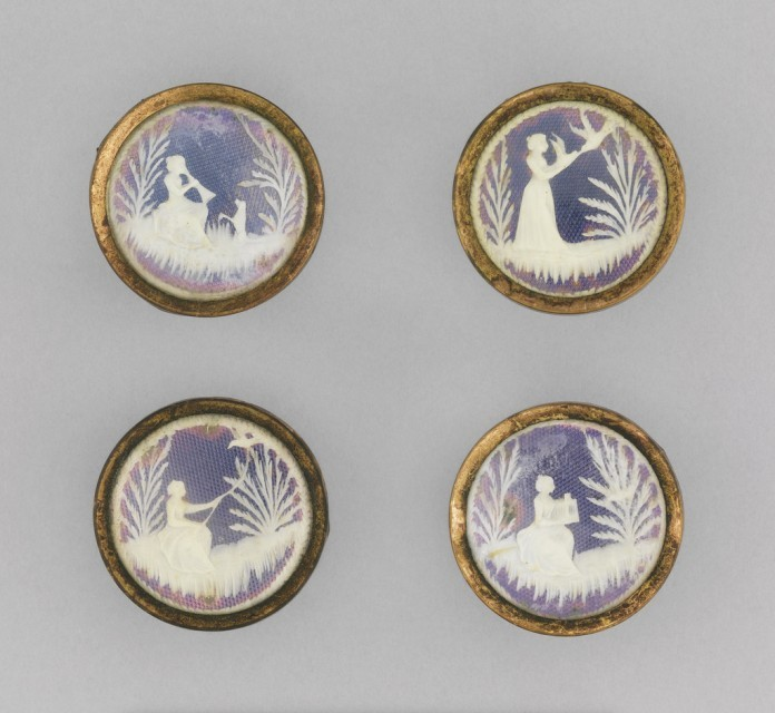 set of ivory buttons, ca. 1780