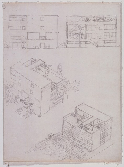 First Studies for Villa Stein-de Monzie. Le Corbusier
