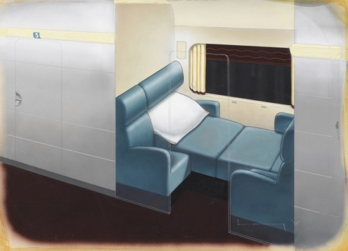 Design for Streamline Sleeper Car. Raymond Loewy