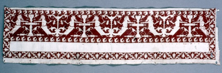 Embroidered band. 17th c.