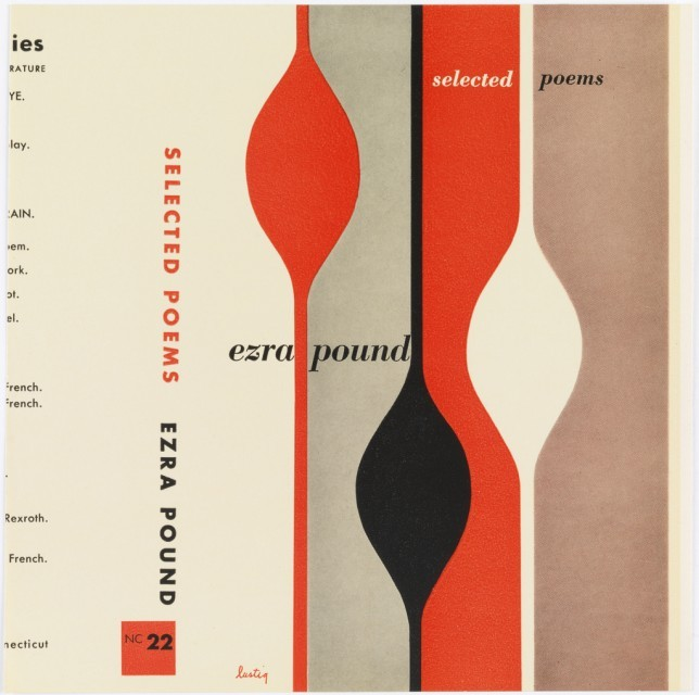 Selected Poems by Ezra Pound. Cover by Alvin Lustig.