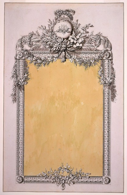 Design for a Mirror Frame with the Monogram of Marie-Antoinette