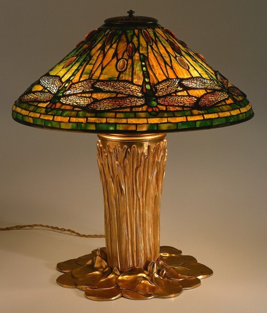 Dragonfly table lamp. Louis Comfort Tiffany.