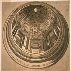 Perspective Design for a Painted Dome and Cupola of a Church.