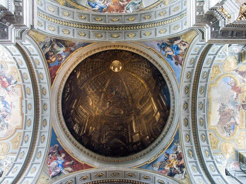 Andrea Pozzo, Trompe lOeil Dome, Church of Saint Ignatius Loyola, Rome, 1685