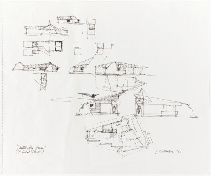 Butterfly House: Concept Sketches for Rural Studio
