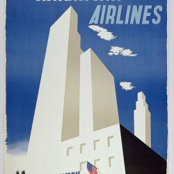 American Airlines: To New York by Edward McKnight Kauffer