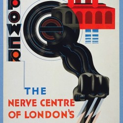 1930 London Underground poster by E. McKnight Kauffer