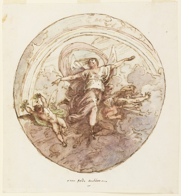 Ceiling Design Depicting Iris and the Rainbow