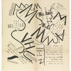 Typographic design by Marinetti 