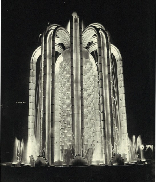 The Cactus illuminated fountain, Paris Colonial Exposition, 1930